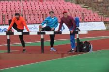 Чемпіонат України з легкої атлетики, 16-19 червня 2016 р., розминка і проба доріжок